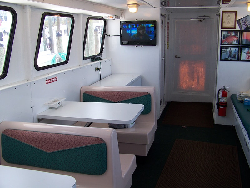 Interior of the Emerald Spirit fishing vessel