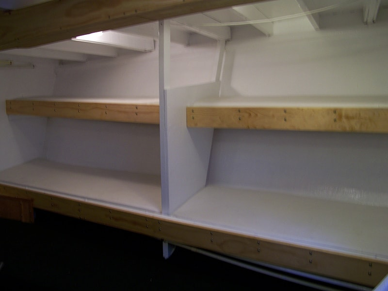 Bed-bunks on the Emerald Spirit fishing vessel